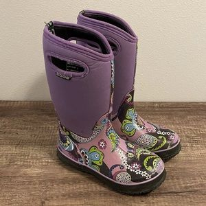 Bogs Purple Classic High Paisley Rain Boots